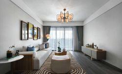 簡中風格二居94平客廳裝修設計效果圖大全