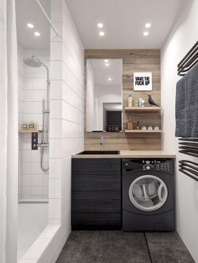 80平方二居室现代风格卫生间装修设计效果图案例