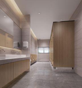2019现代简约风格办公室卫生间装修设计效果图图片