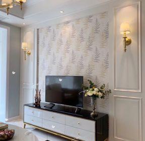 90平米三居室北歐風格電視背景墻裝修設計效果圖-每日推薦