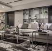 105平米三居室現代風格沙發背景墻裝修設計效果圖