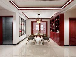 125平米簡約中式風格餐廳壁柜效果圖欣賞