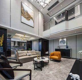 650平別墅現代風格客廳地磚效果圖片-每日推薦