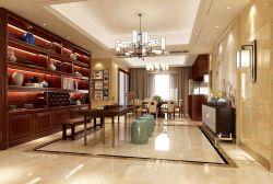 新中式風格293平別墅茶室壁柜裝修設計圖