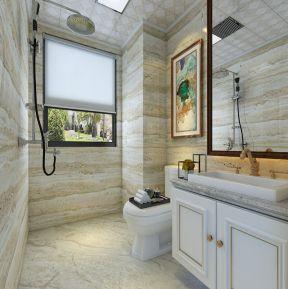 137平米三居室简欧风格卫生间装修设计效果图