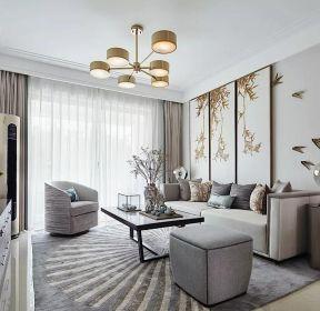 別墅中式風格260平客廳窗簾裝修設計圖片大全-每日推薦