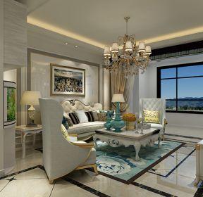 三居室120平米現代風格客廳吊燈裝修效果圖2020-每日推薦