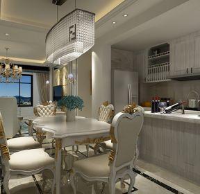 三居室120平米現代風格餐廳吊燈裝修效果圖2020-每日推薦