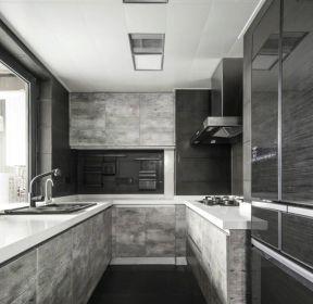 现代简约风格复式188平厨房装修设图片赏析-每日推荐