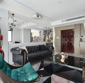 120平米三居室混搭風格客廳裝修設計效果圖大全-每日推薦