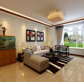 新中式風格160平新中式客廳沙發裝修-每日推薦