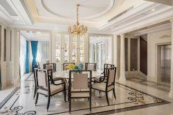 別墅1000平歐式風格餐廳吊頂裝修設計圖