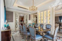 別墅1000平歐式風格餐廳桌椅裝修設計圖