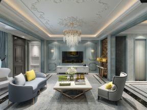 法式客厅装修效果图欣赏 法式客厅装修效果图大全2019图片
