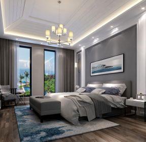 别墅460平现代简约风格卧室效果图欣赏-每日推荐