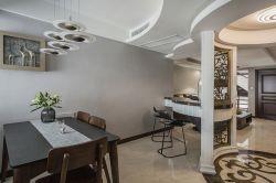 復式140平現代風格餐廳裝修設計圖
