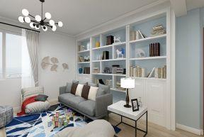 客厅书架墙  客厅置物架落地