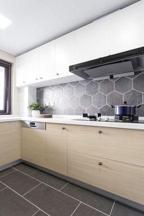 100平米三居北欧风格厨房橱柜装修图片