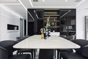 黑色酒柜效果圖 餐廳酒柜設計