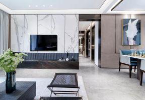 客廳石材電視墻效果圖 客廳電視墻造型圖