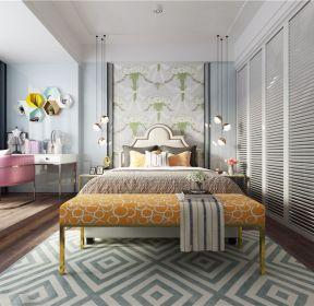 三室一廳一廚一衛現代風格臥室梳妝臺效果圖片-每日推薦
