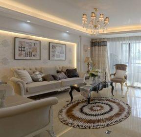 150平米欧式三居客厅家居装修效果图欣赏-每日推荐