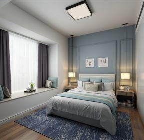 120平方房子美式風格臥室床頭吊燈效果圖片-每日推薦