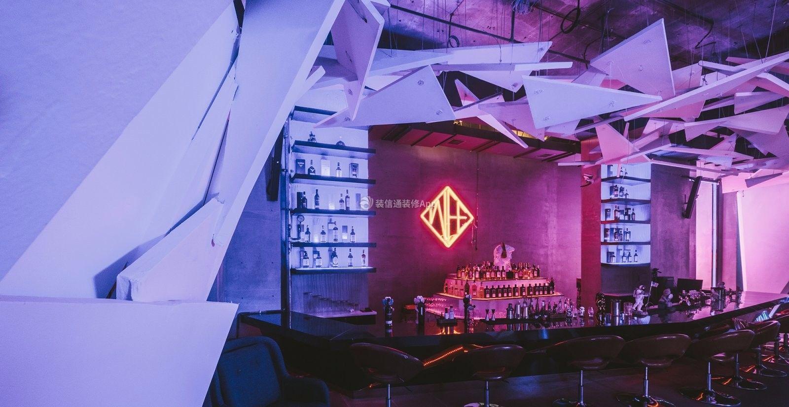 现代风格1100平夜店吧台装修效果图