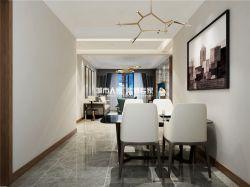 三室兩廳120平現代風格餐廳創意吊燈裝潢圖片