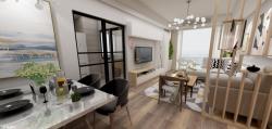 現代風格120平三居室餐廳裝修