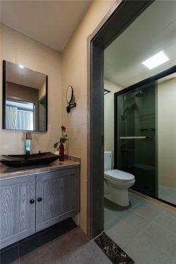 128平米東南亞風格衛生間淋浴房隔斷設計圖