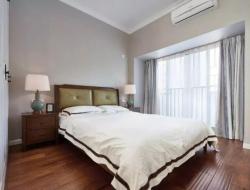 美式風格四室兩廳臥室地板裝修實景圖片