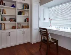 140平米四室兩廳美式風格書房書柜實景圖片