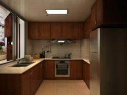 125平米三居室中式風格廚房燈裝修效果圖