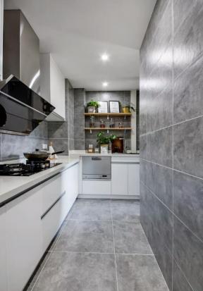 80平米两室两厅北欧风格厨房橱柜装修图片