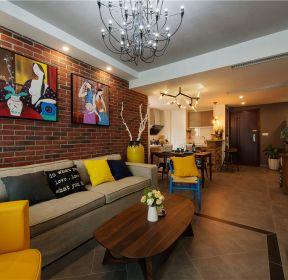 128平米東南亞風格客廳茶幾裝潢圖片-每日推薦