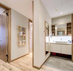 北歐風格98平米3室2廳衛生間隔斷墻實景圖片-每日推薦