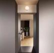 現代簡約97平三居室過道裝修效果圖