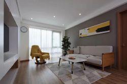 北歐風格110平三居室客廳裝修效果圖