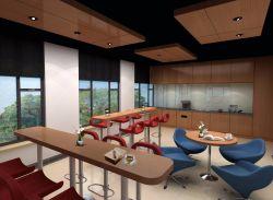 現代風格辦公室休閑區吧臺桌設計圖片