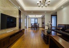 麒龍國際中式風格138平米四居室裝修案例