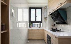 現代簡約風格89平米三居室廚房櫥柜設計圖片
