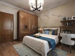 中式風格124平四居室臥室裝修效果圖
