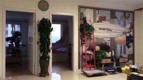 客廳背景墻裝飾設計 客廳盆景