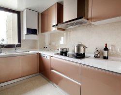 中式風格126平米三居室廚房櫥柜裝修效果圖