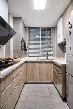 歐式風格125平米三居室廚房櫥柜裝修效果圖