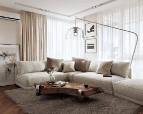 现代简约客厅窗帘图片大全 现代简约客厅窗帘ballbet贝博网站效果图