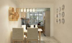 現代簡約風格120平三居室餐廳裝修效果圖