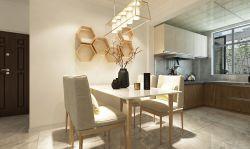 現代簡約風格120平三居室餐廳吊頂裝修效果圖