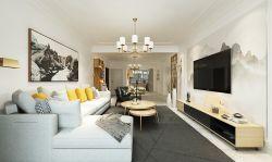 現代簡約風格120平三居室客廳裝修效果圖